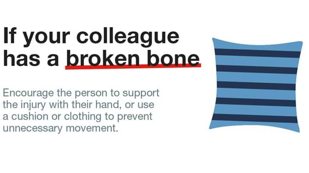 Workplace broken bone