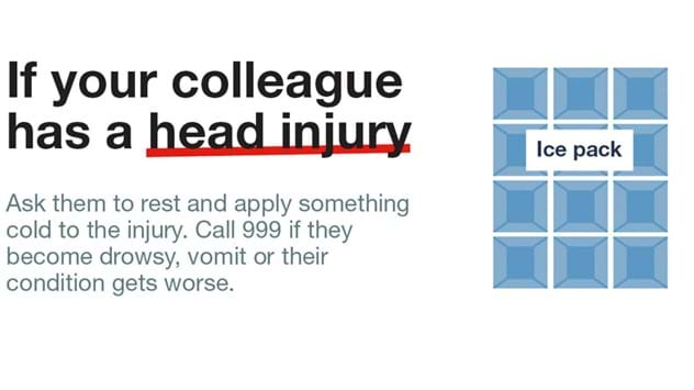 Workplace head injury